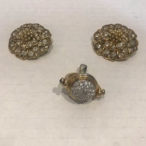 Vintage Jewelry Bundle Gold and Sparkles